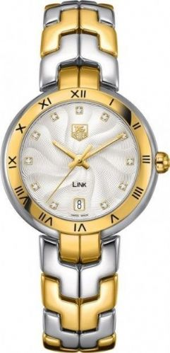 TAG HEUER Link Lady 18ct Gold & Diamond Dial Ladies Watch WAT1350.BB0957